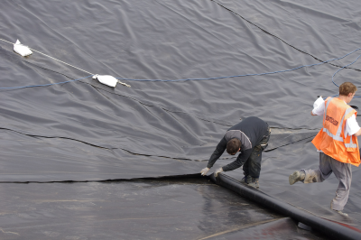 liner Corners being constructed